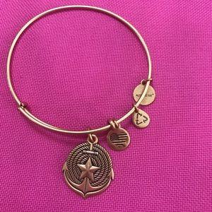 Alex and Ani bracelet gold anchor